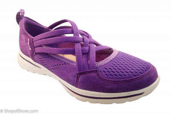 Ultra lightweight purple suede leather casual leisure shoe